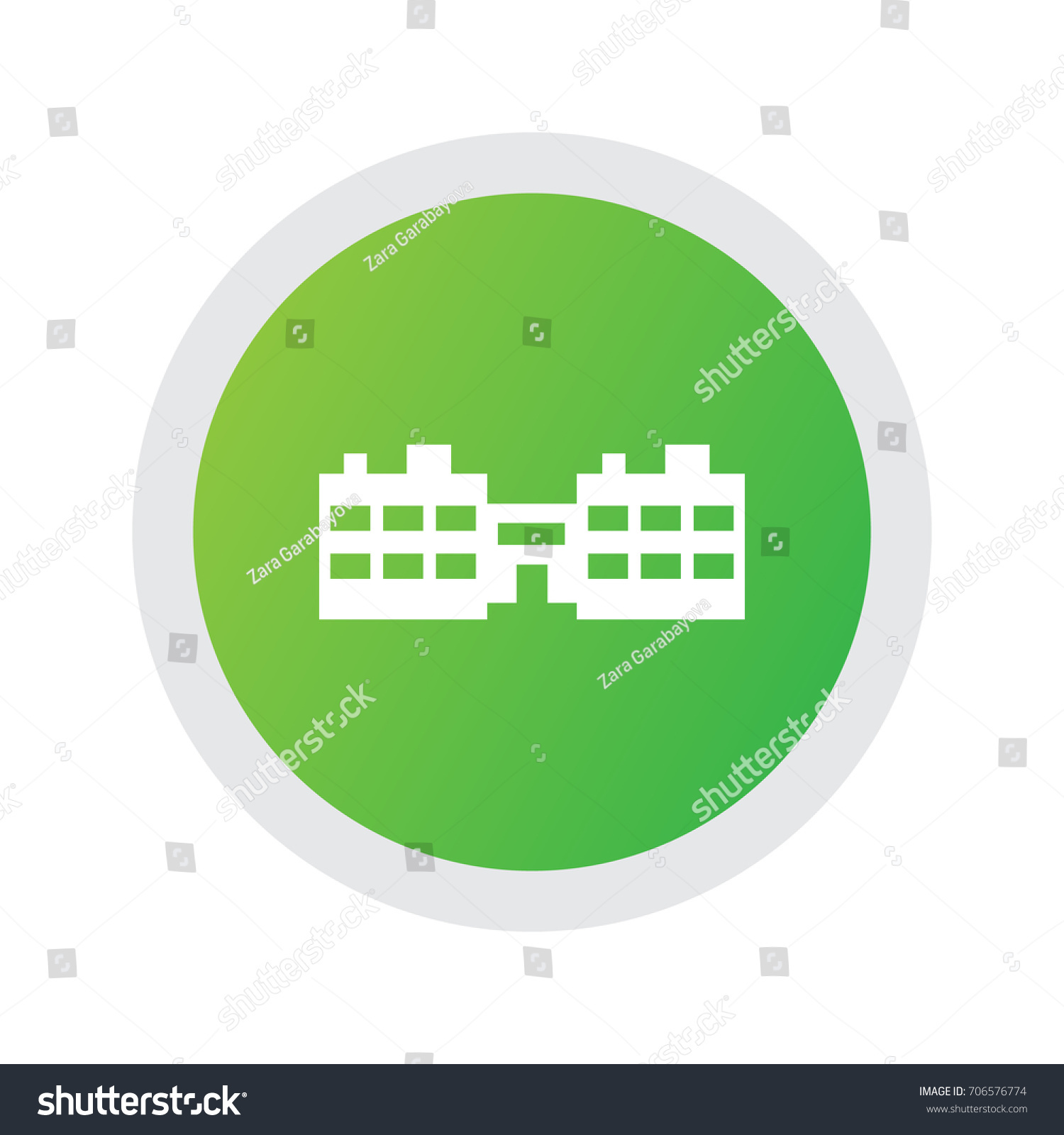 Isolated School Icon Symbol On Clean Stock Vector Royalty Free