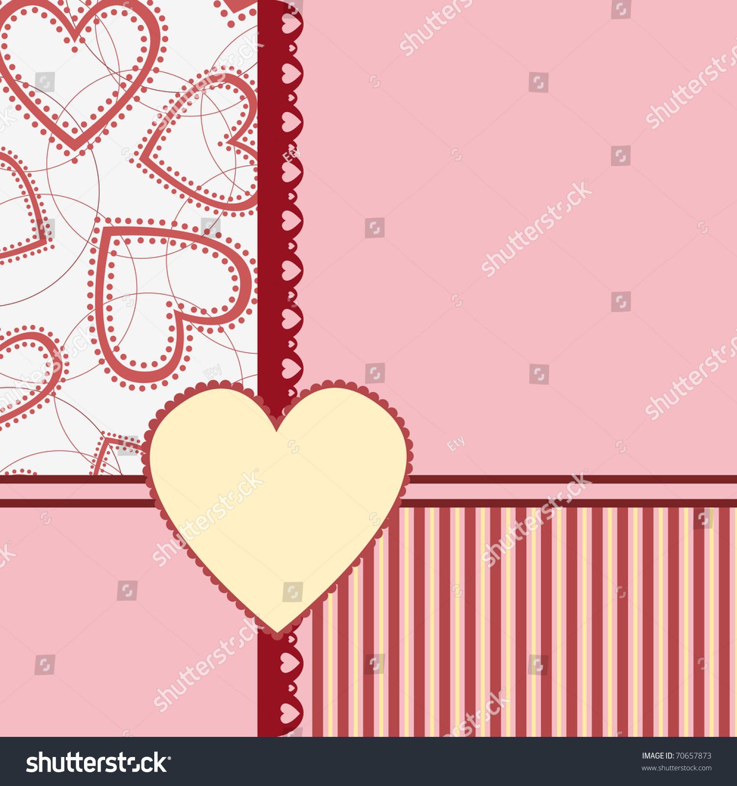 Template Valentine Wedding Greetings Card Postcard Stock Vector