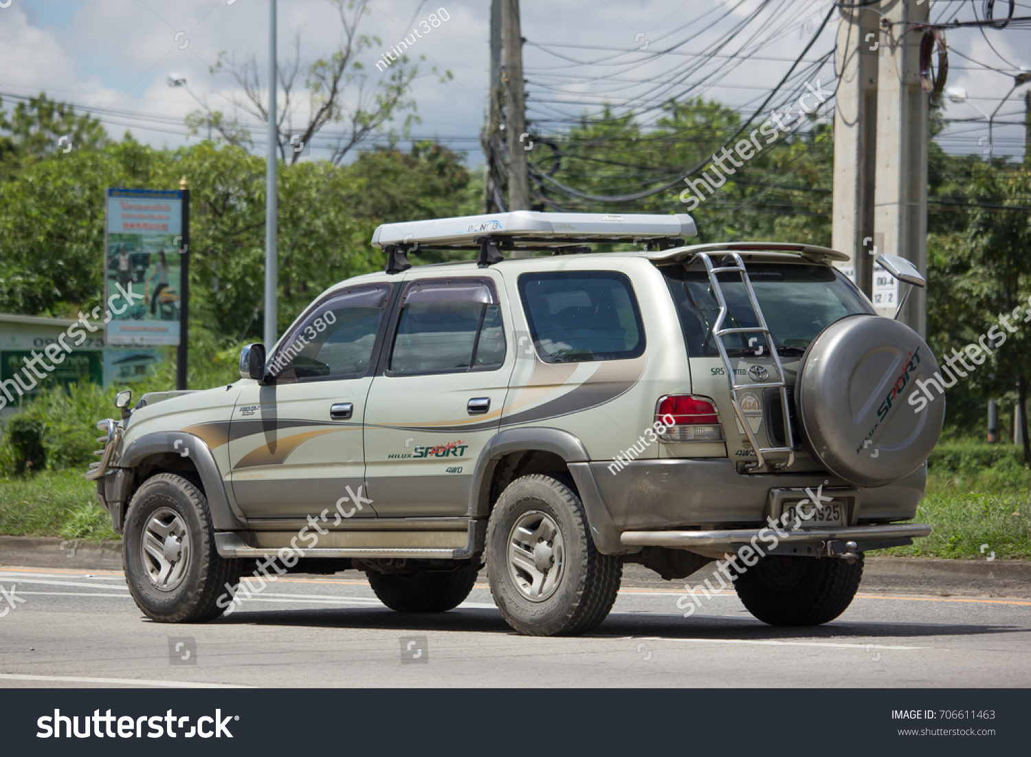 CHIANG MAI, THAILAND   AUGUST 22 2017: Private Suv Car, Toyota Sport Rider