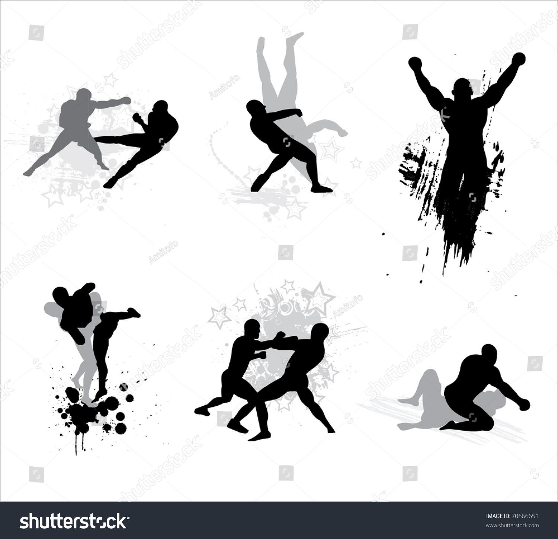 Mixed martial arts symbols
