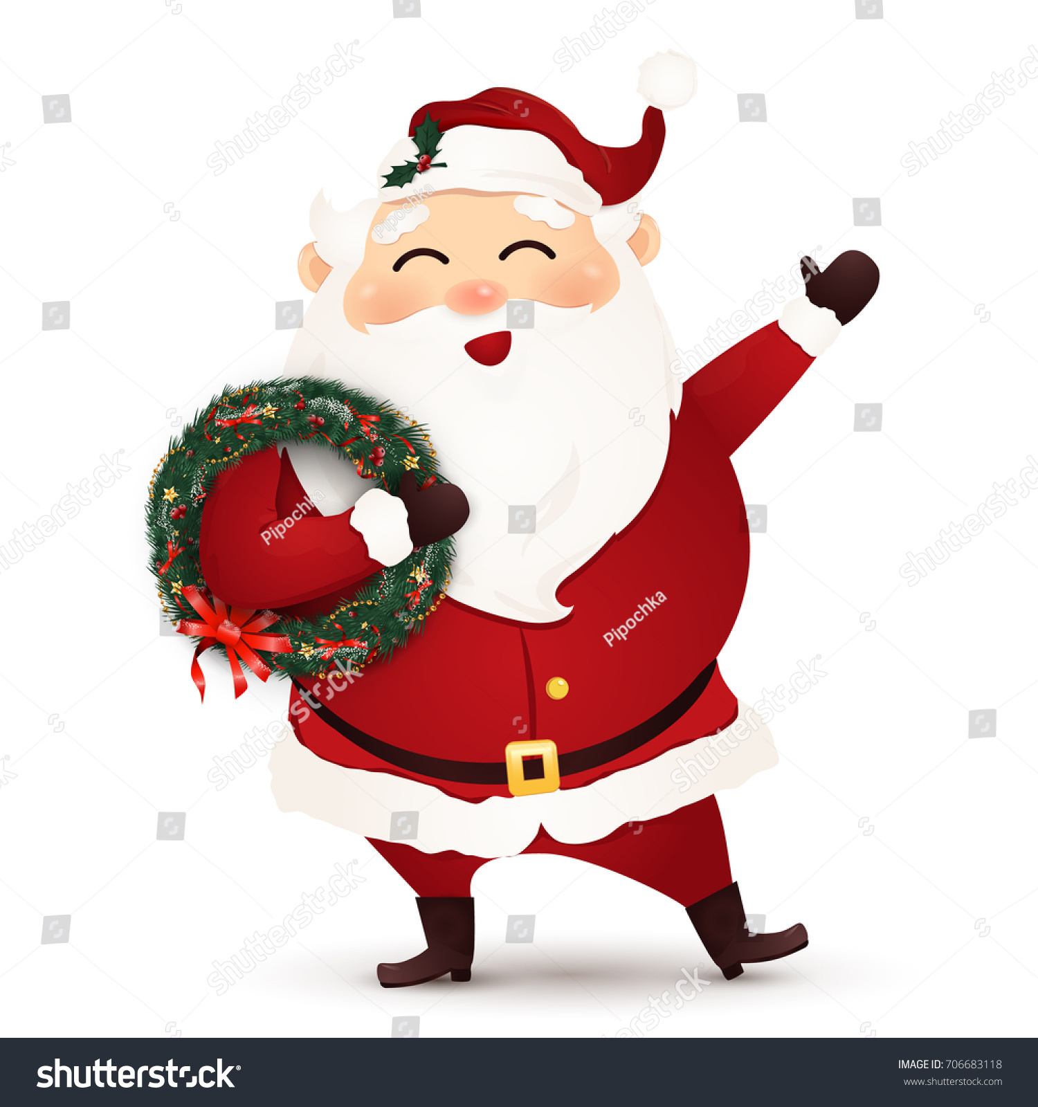 merry christmas christmas cute happy funny stock illustration