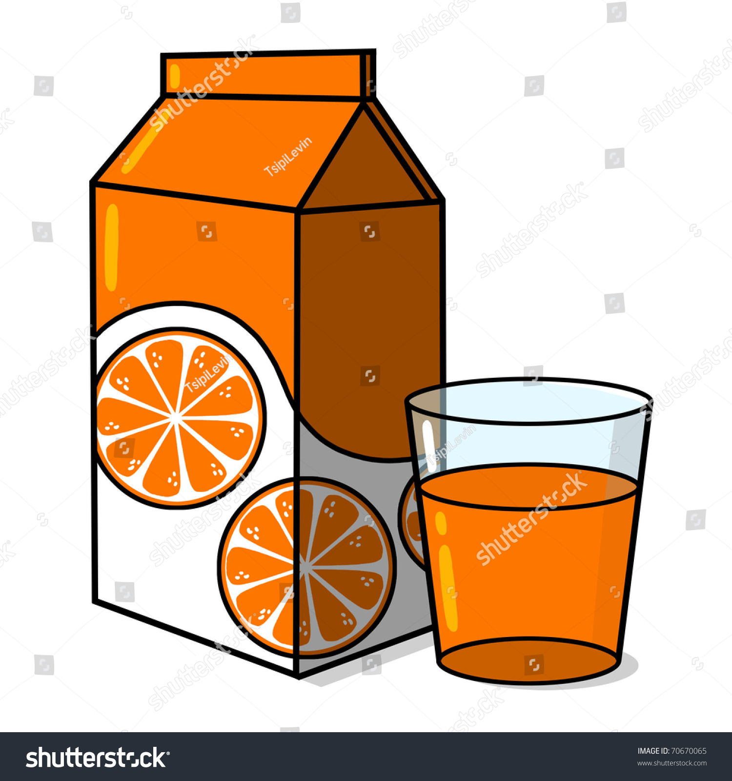 orange juice carton glass orange juice stock illustration