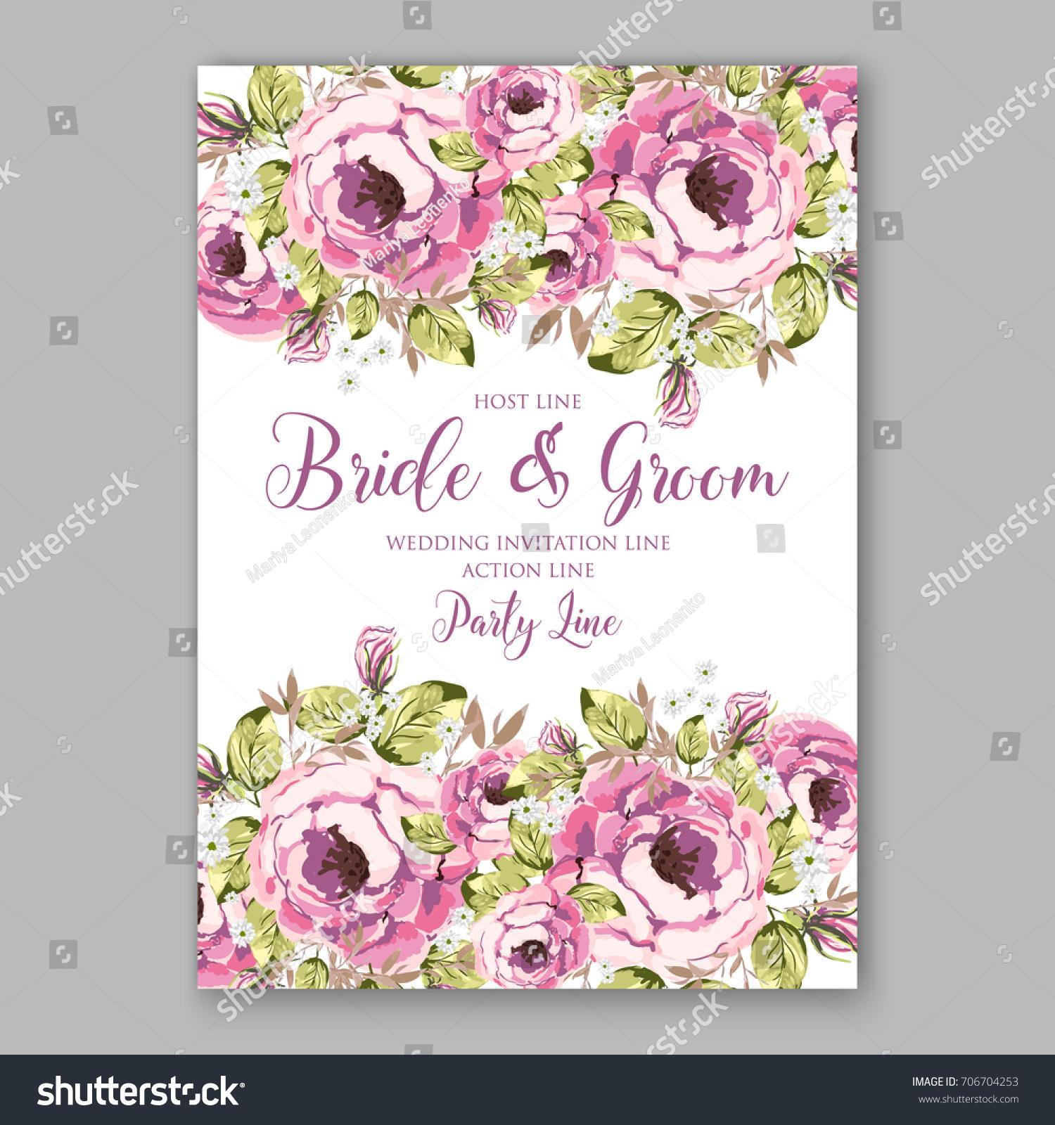 ranunculus daisy peony floral wreath wedding stock vector royalty