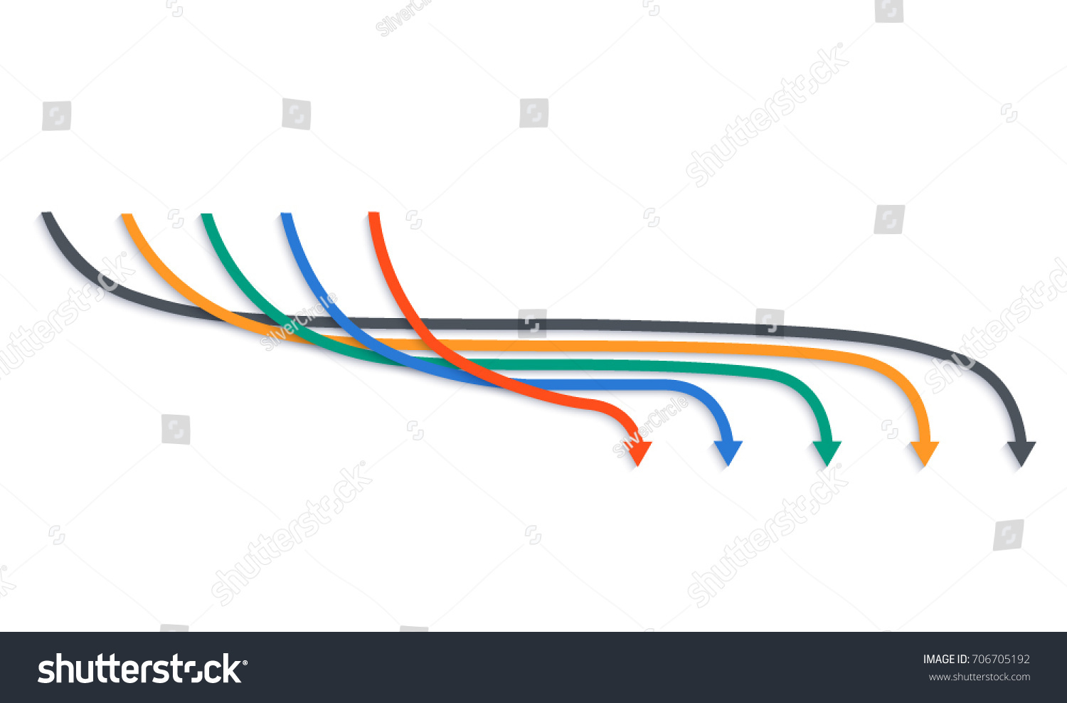 Design Elements Arrow Style Background Business Stock Vector ...