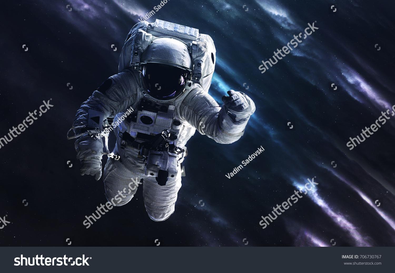 Astronaut Deep Space Image Science Fiction Stock Photo Edit Now