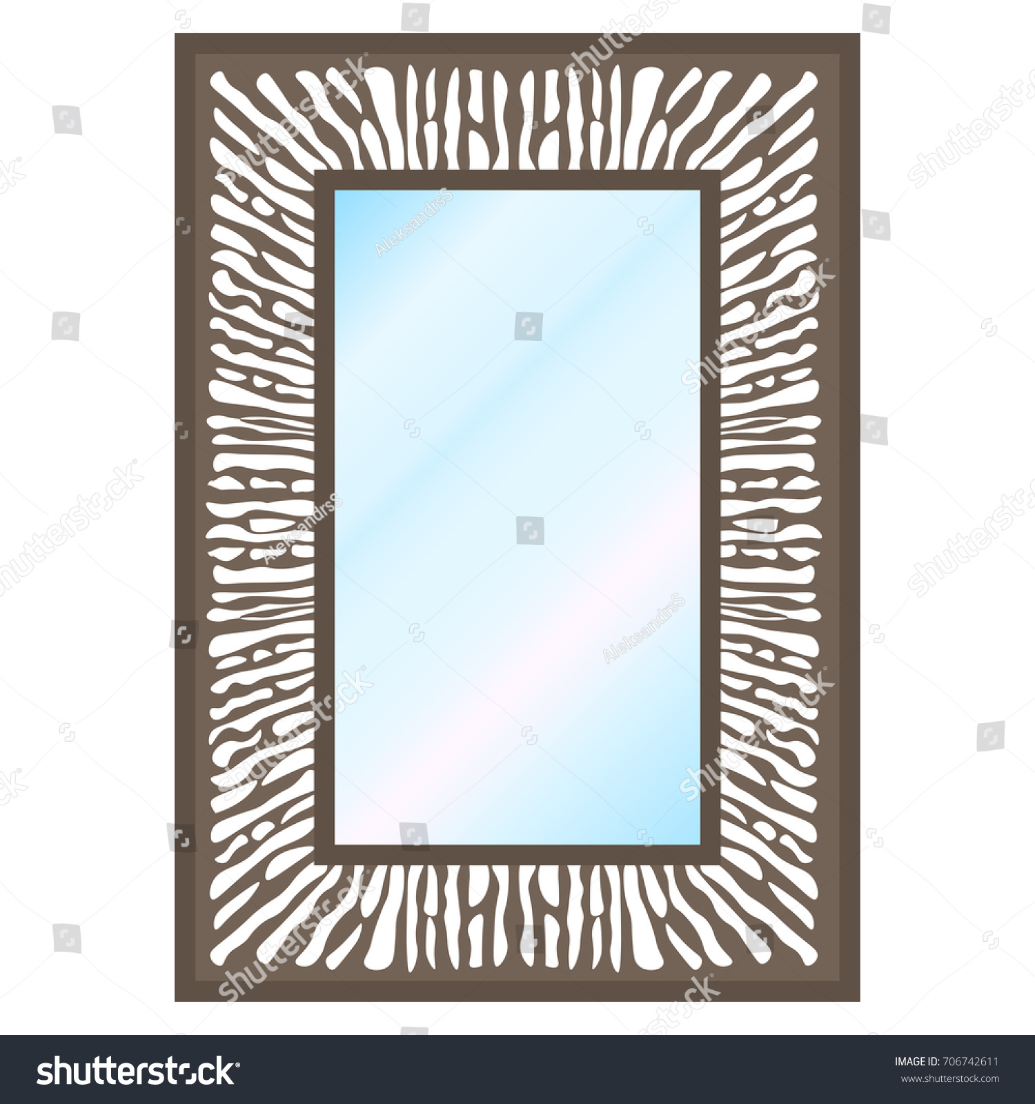 Vector illustration wall square mirror on stock vector 706742611 vector illustration of a wall square mirror on a white background amipublicfo Gallery