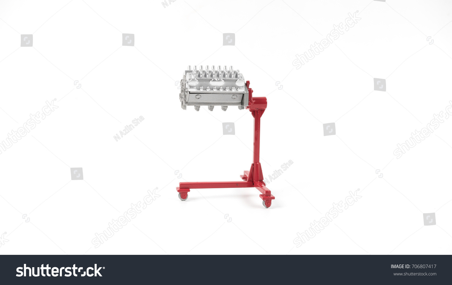 Miniature engine block stand concept clean stock photo 706807417 miniature of an engine block with stand concept of clean auto part isolated on pooptronica