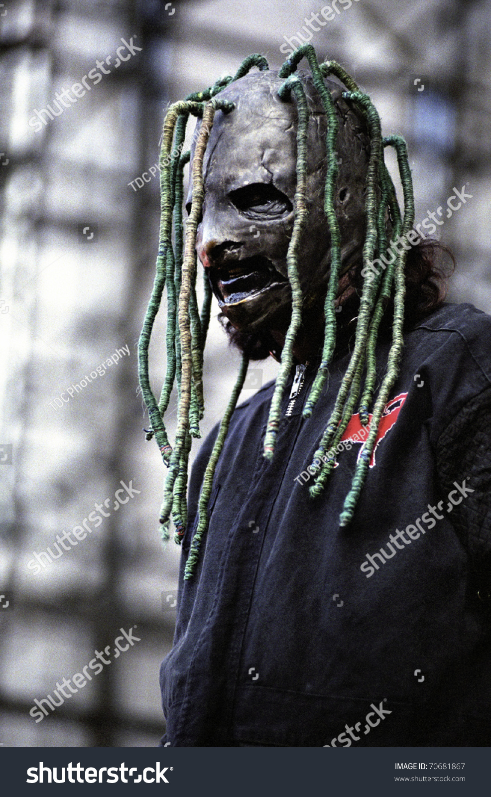 Band slipknot performs live in concert june 22 2001 at mile high