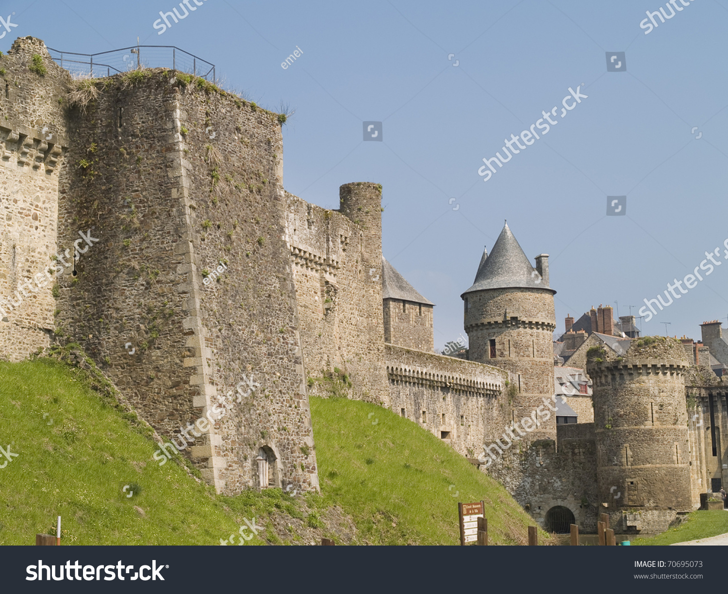Fougeres is a small medieval town located in brittany france
