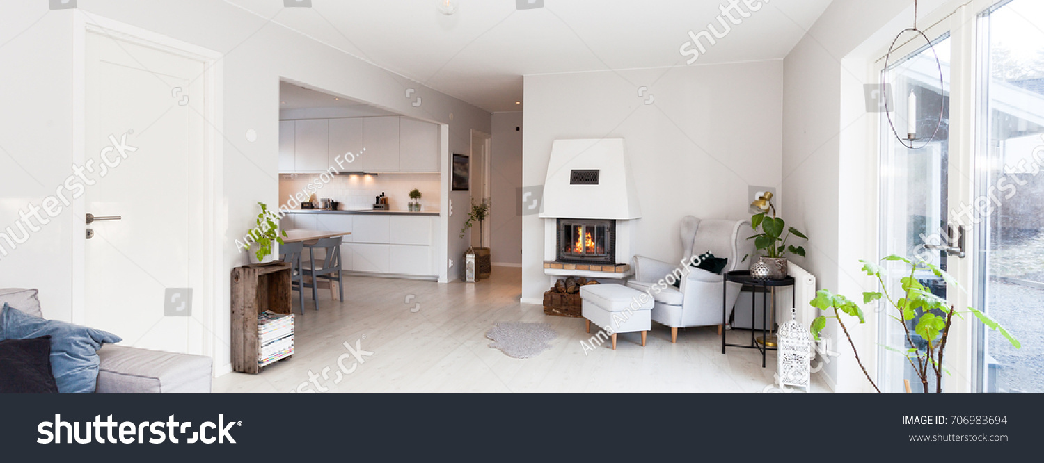 Banner Living Room Kitchen Relaxing Chair Stock Photo (Royalty Free ...