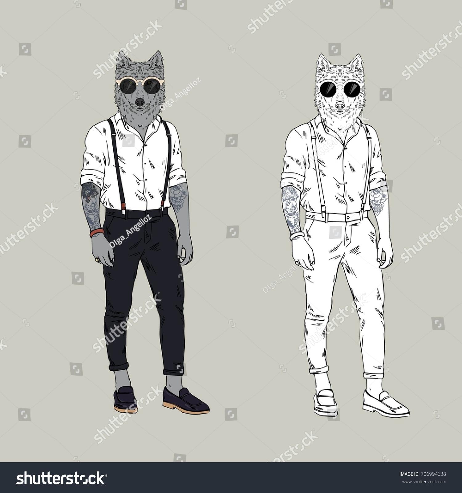Wolf Cool Furry Art
