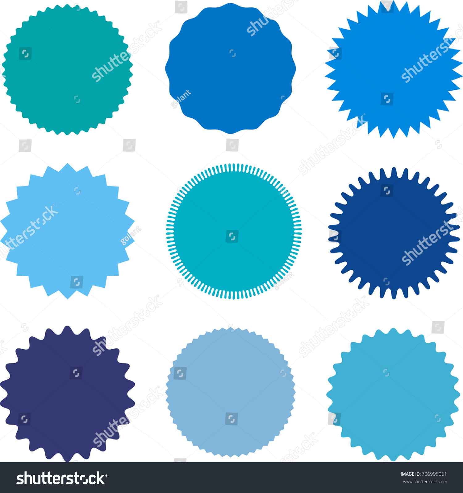 Set Starburst Sunburst Badges Labels Stickers Stock Vector ...