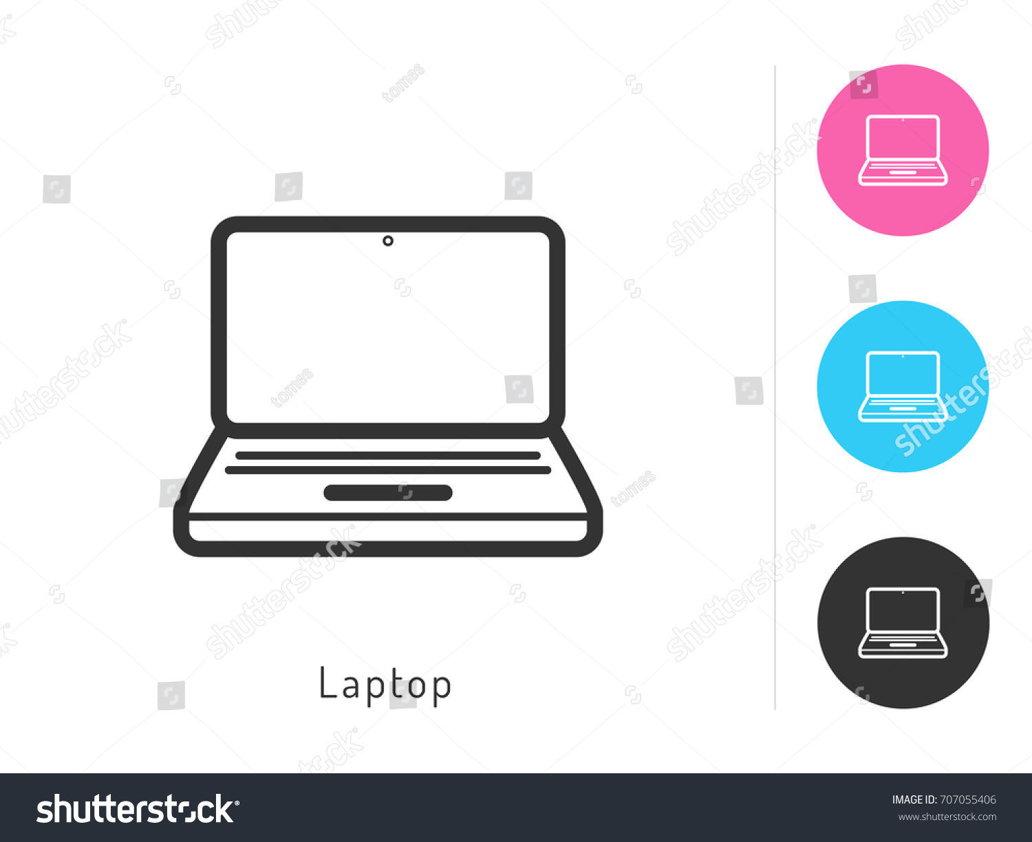 Laptop Icon Vector Laptop Symbol Your Stock Vector Royalty Free