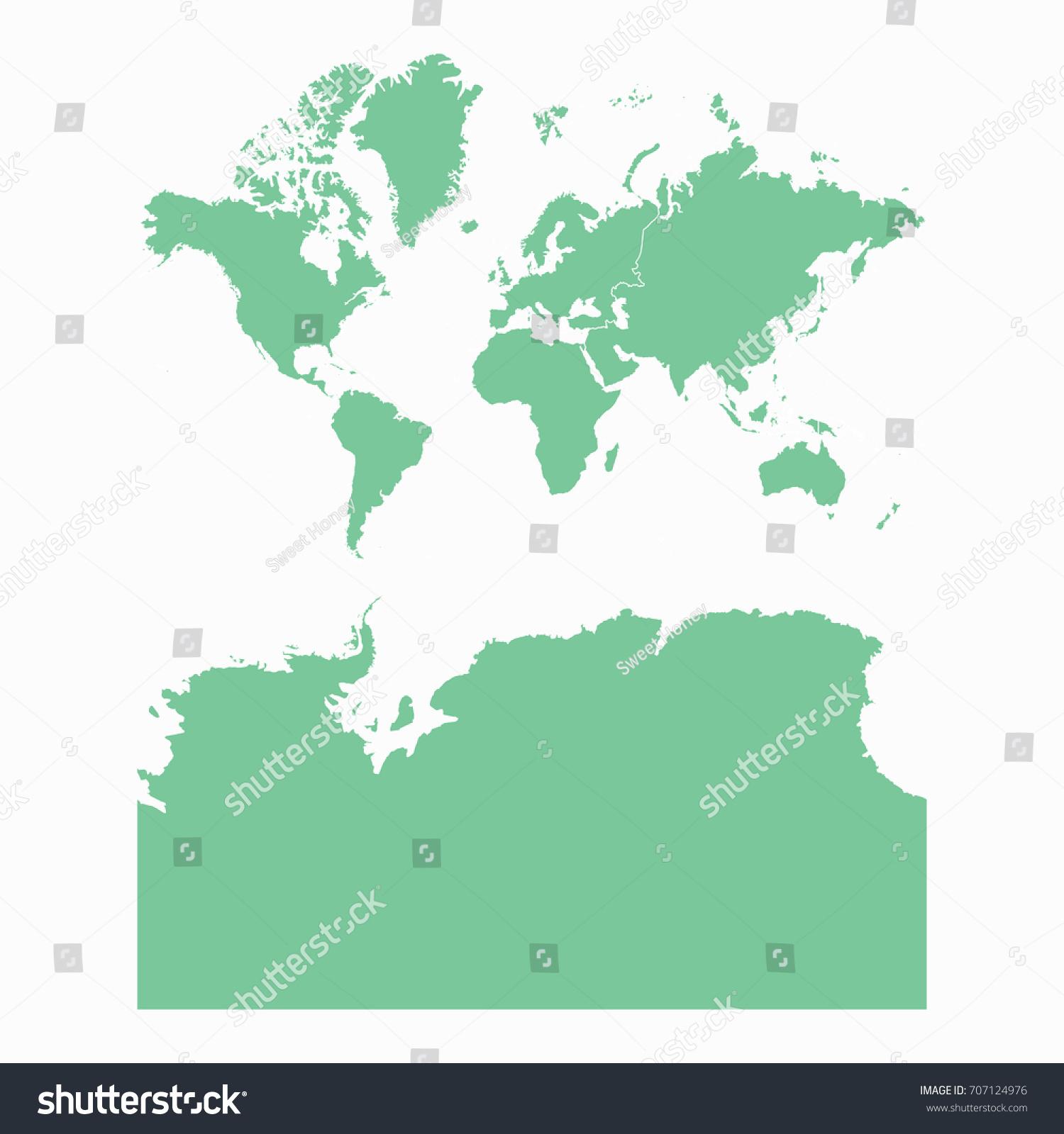 Mapcontinents Antarctica Map Each City Border Stock Vector - Antarctica physical map cities