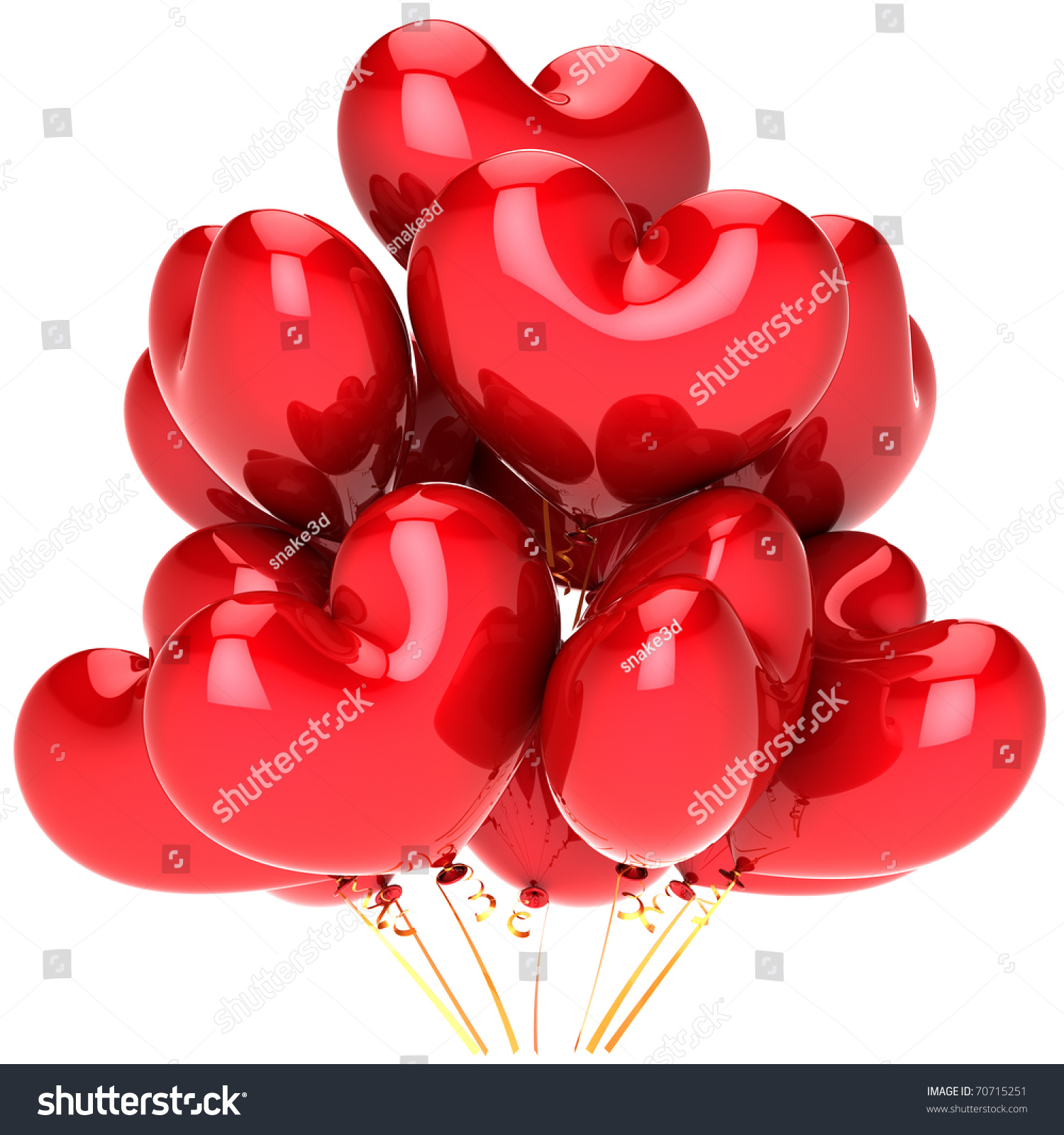 Party balloons red valentines day 14 stock illustration for Balloon decoration for valentines day