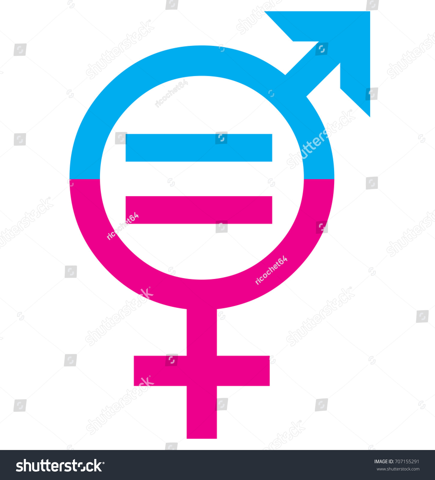 Men Women Sex Equality Sign Concept Stock Illustration 707155291
