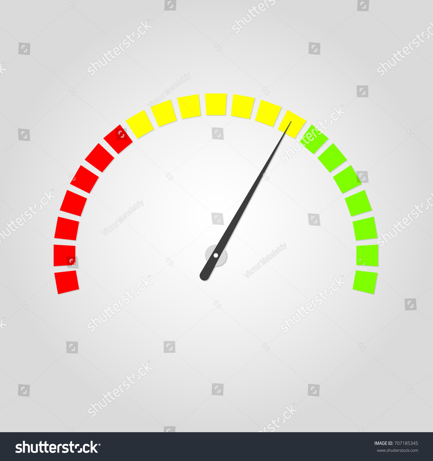 Meter Gauge Icon Speedometer Red Yellow Stock Illustration 707185345 ...