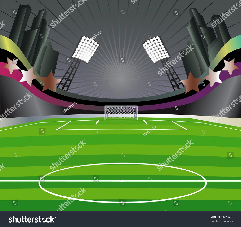 Stadium Lights Svg: Abstract Background Soccer Stadium Field Vector Stock