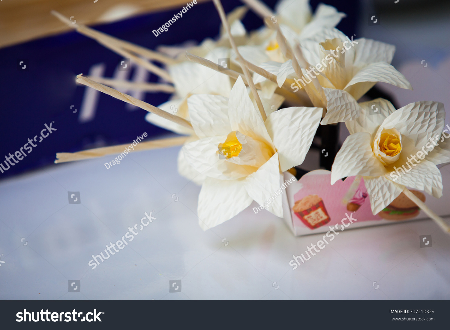 Thai Funeral Flower Artificial Flower Used Stock Photo Edit Now