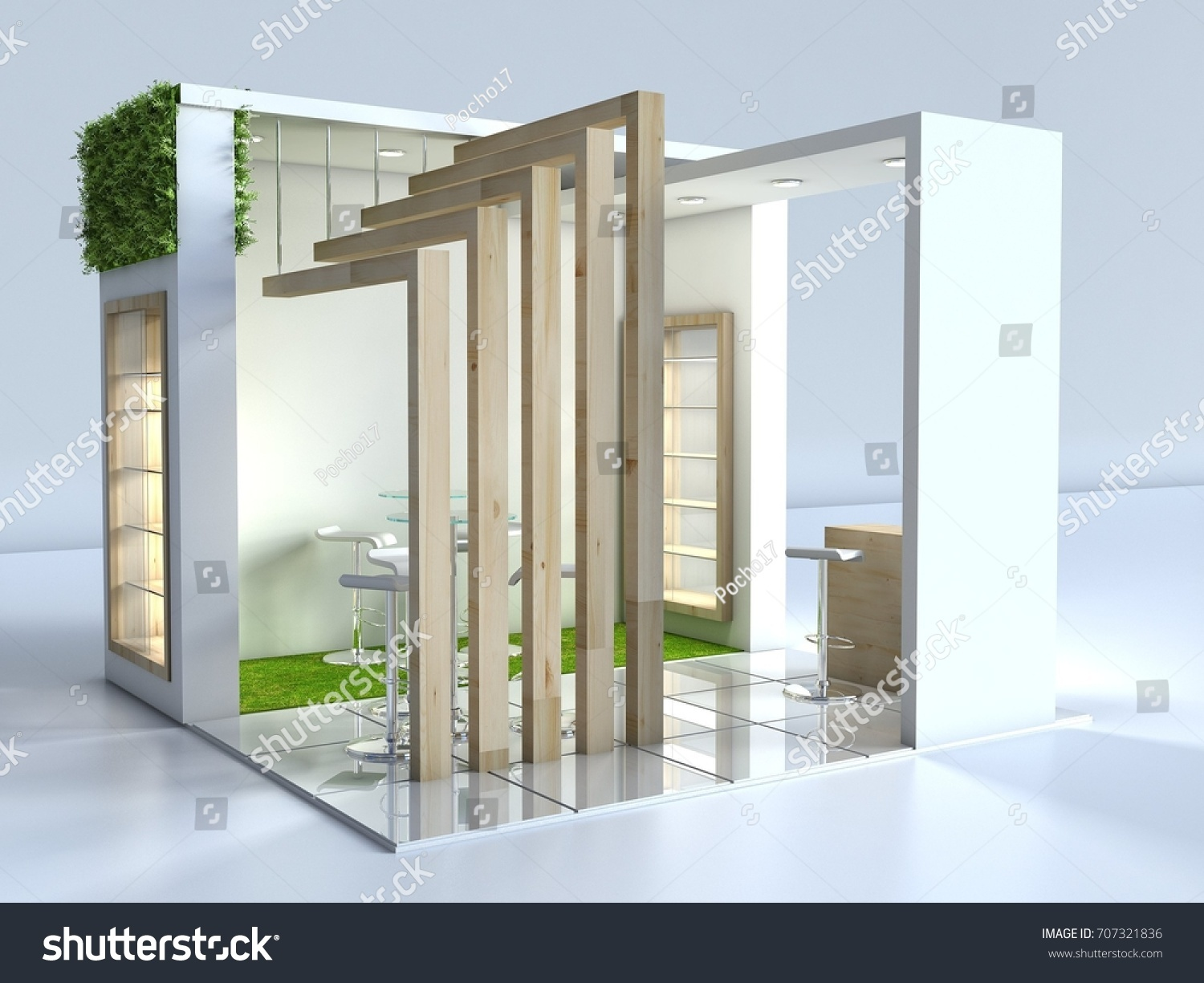 D Exhibition Design : Stand d exhibition design wood grass stock illustration