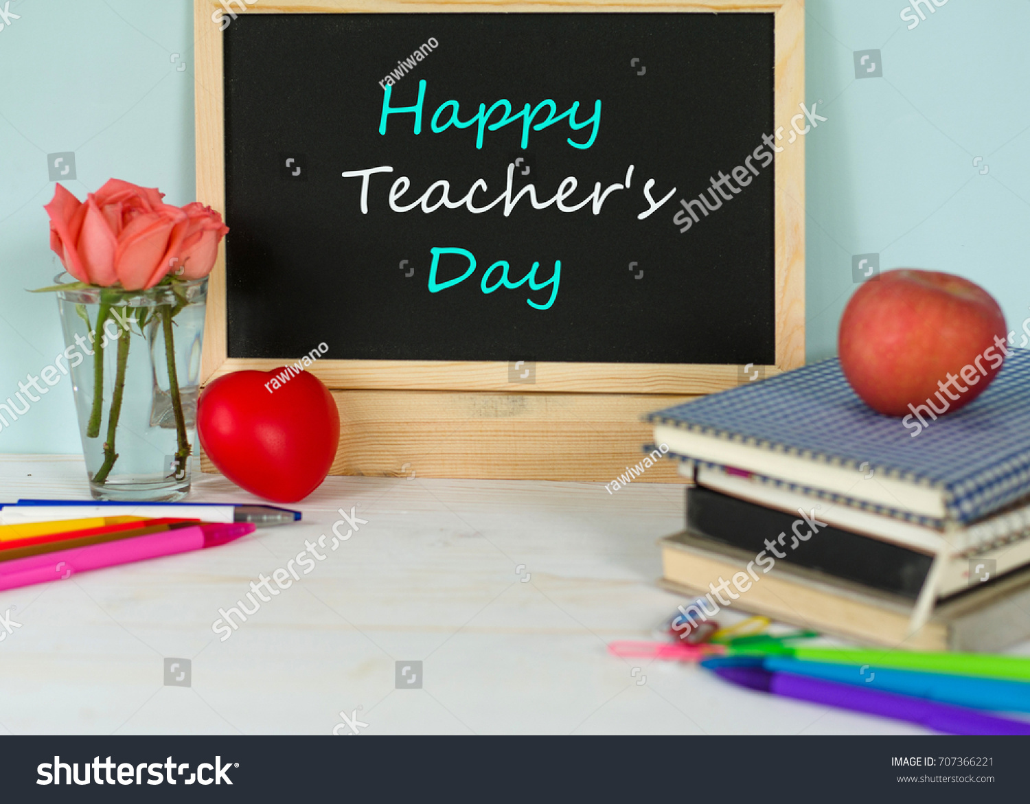Happy Teachers Day Concept Students Greeting Stock Photo Edit Now
