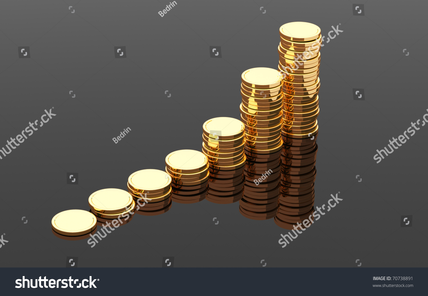 gold coins black background - photo #18