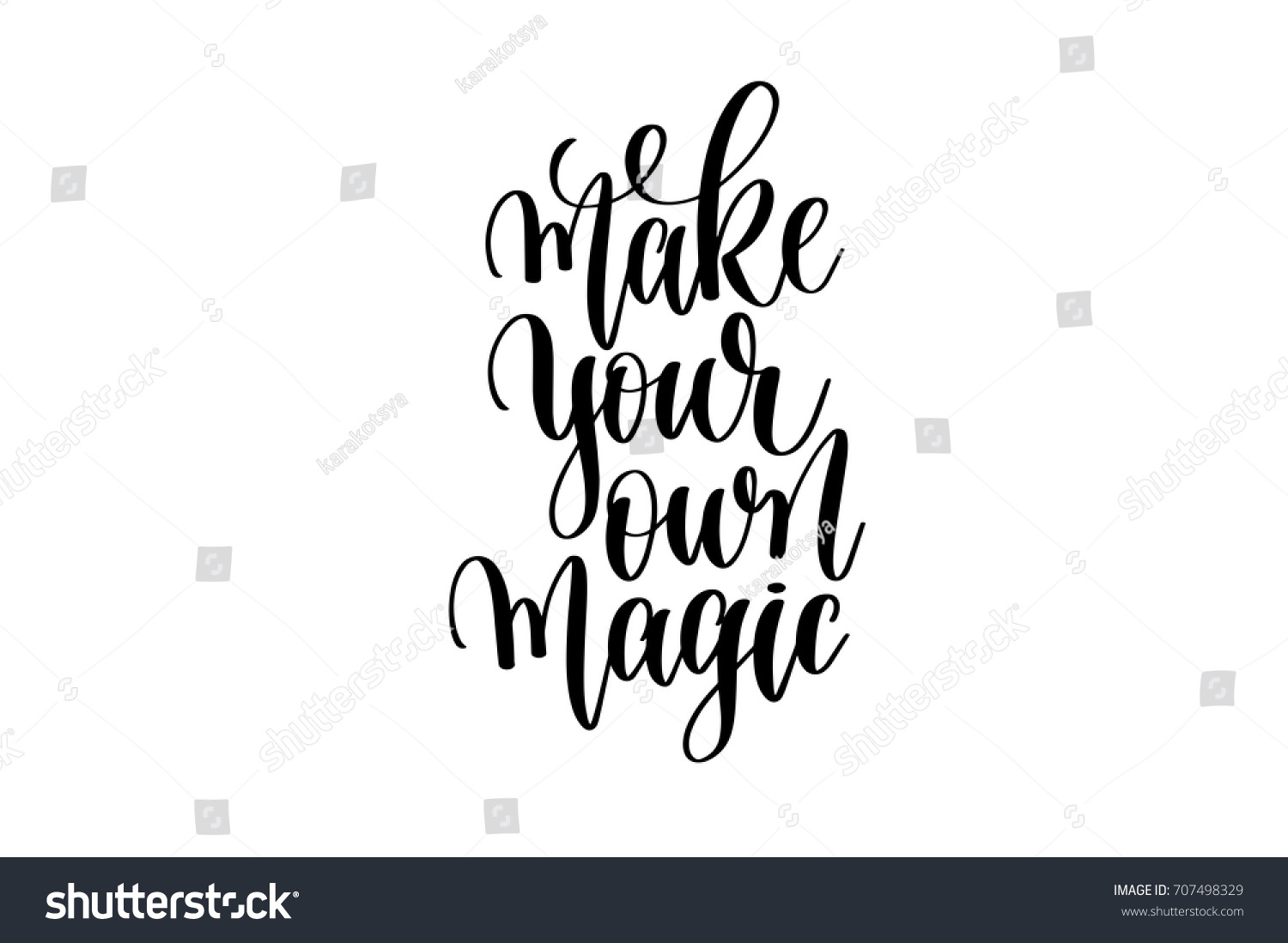 Make your own magic hand written stock vector 707498329 shutterstock make your own magic hand written lettering positive quote to poster greeting card kristyandbryce Images