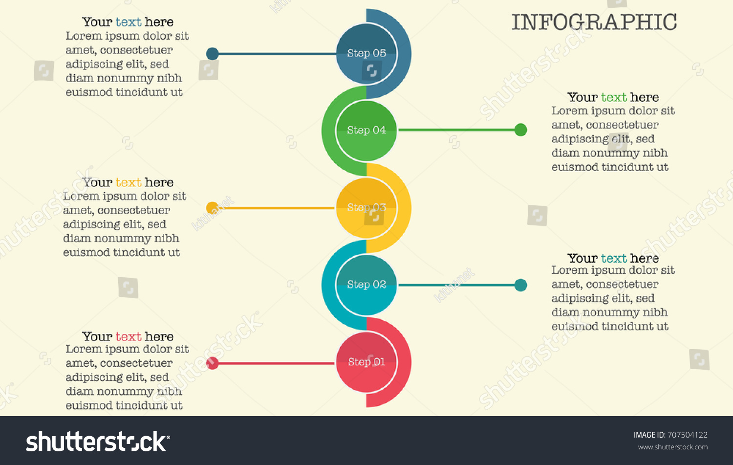 Business Process Timeline Infographics Icon Options Stock Vector Flow Diagram With Or And Eps10 Illustration