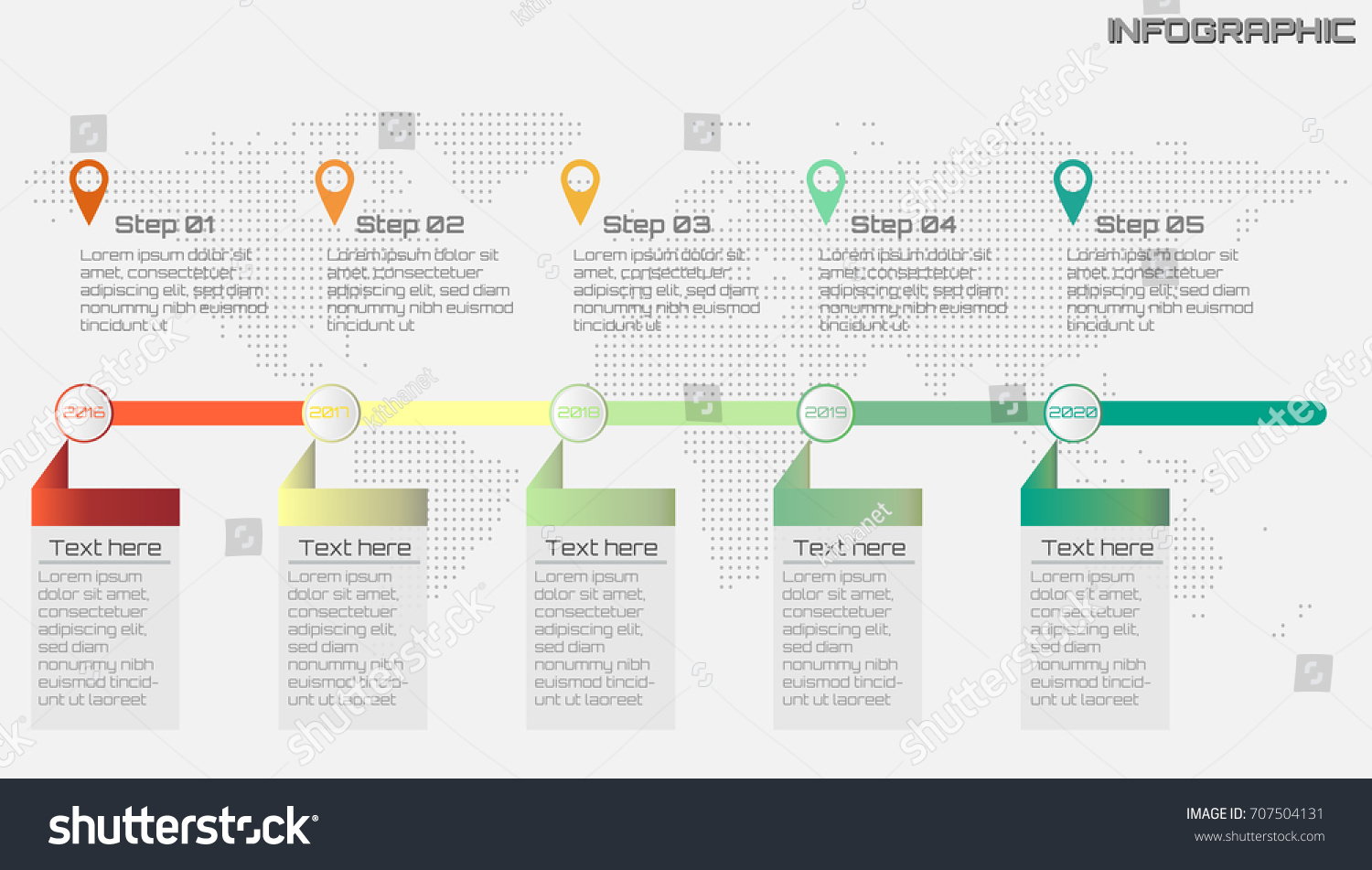 Process Flow Diagram With Timeline Explained Wiring Diagrams Business Infographics Icon Options Stock Vector Template