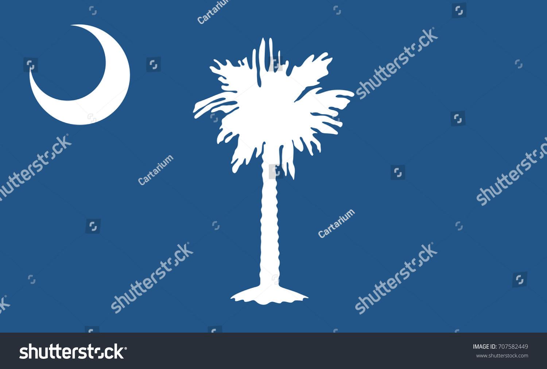 South Carolina State Flag Vector Illustration Stock Vector Royalty