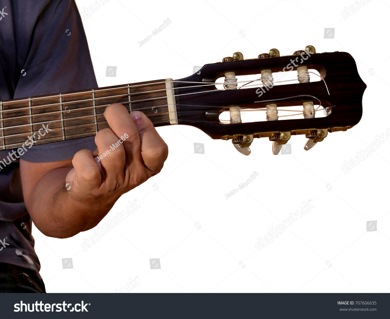 Dm 7 Chord Acoustic Guitar Stock Photo Edit Now 707606635