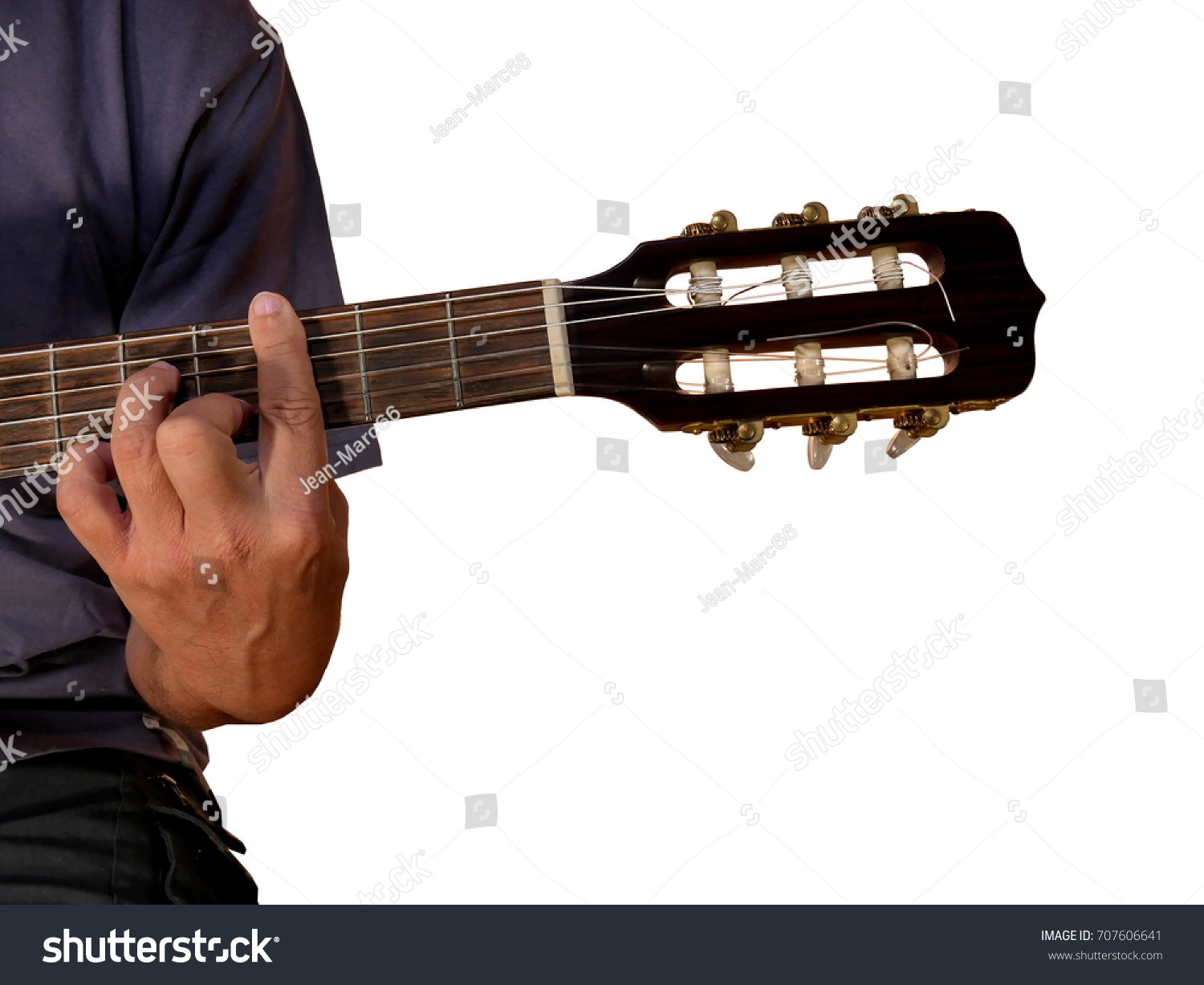 G 7 Chord Acoustic Guitar Stock Photo Edit Now 707606641