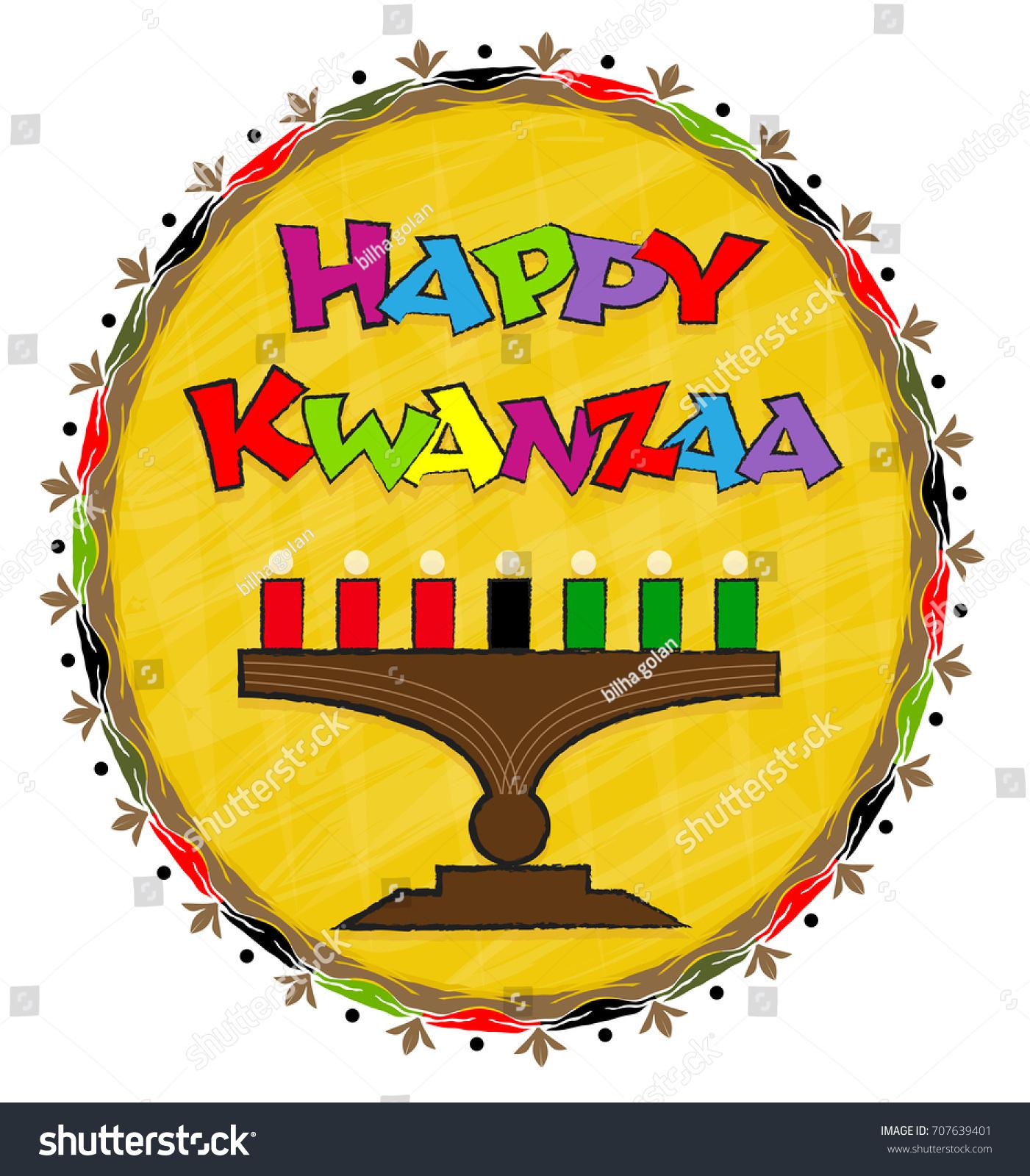 Happy Kwanzaa Clip Art Festive Clipart Stock Vector ...