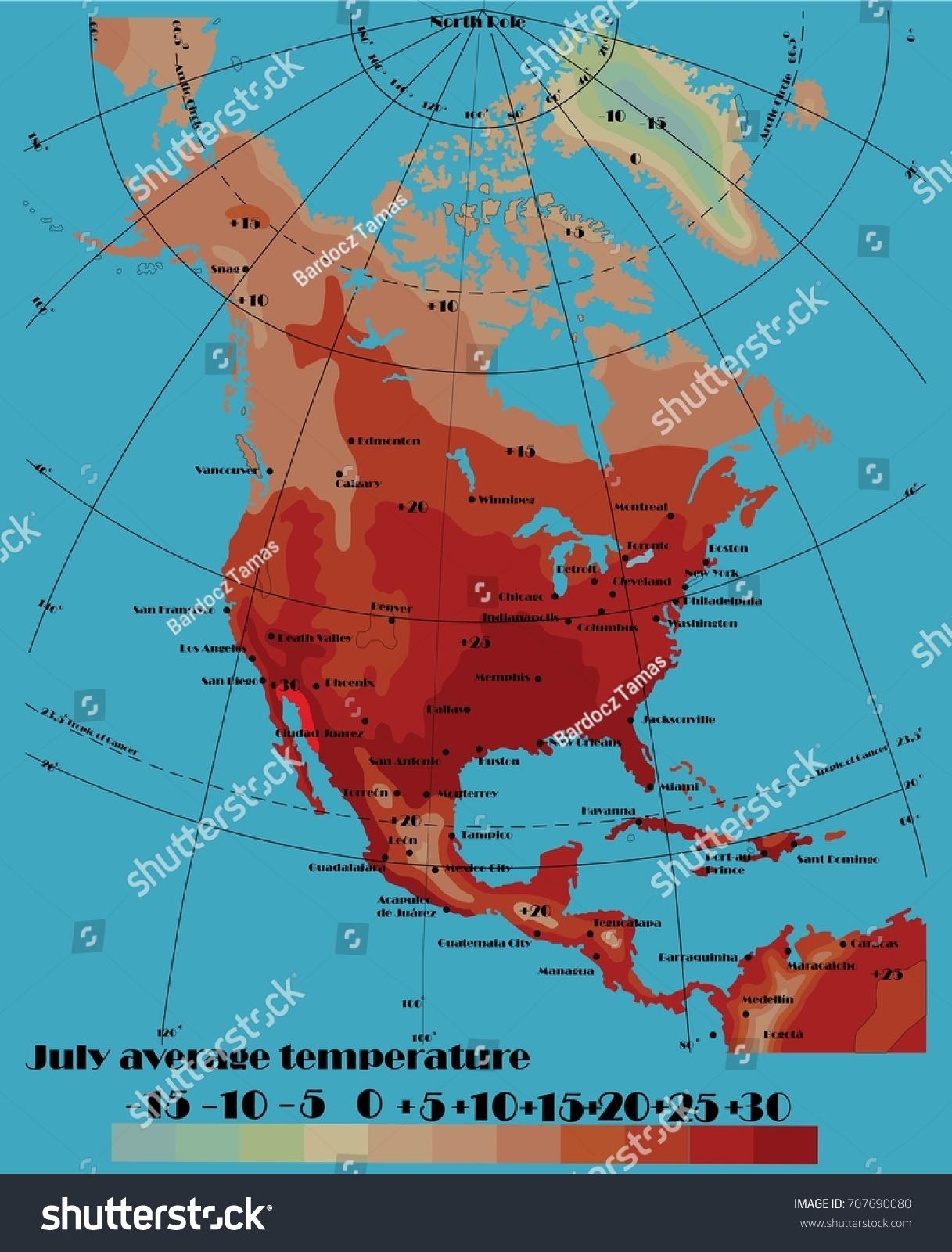 Average Temperature Map Of Us - Average temperature us map
