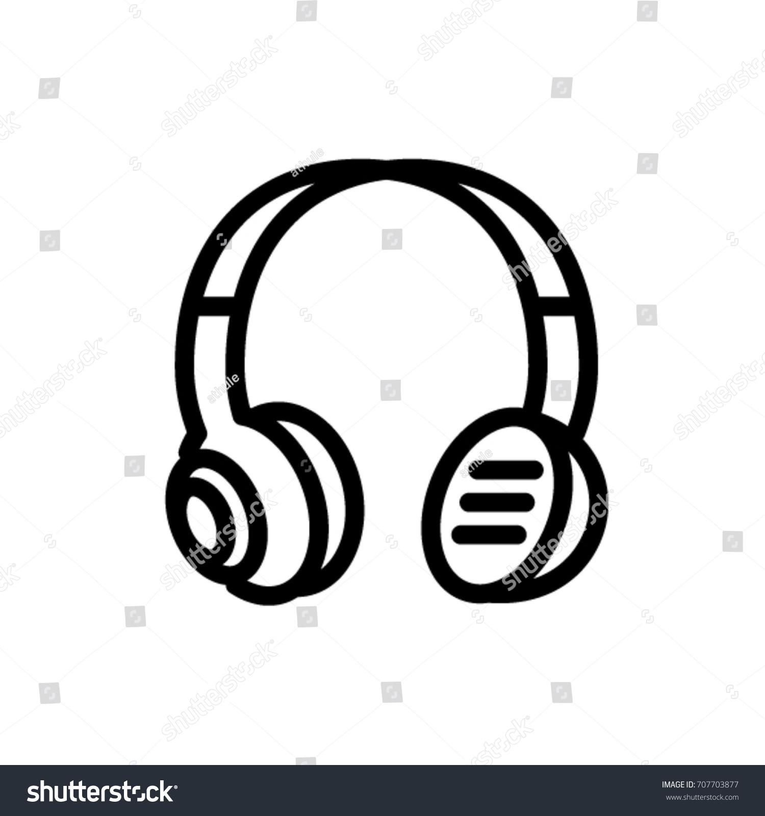 Headphones Icon Stock-Vektorgrafik 707703877 – Shutterstock