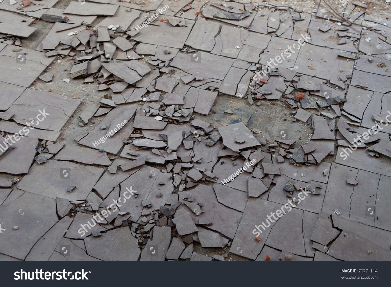 Old Broken Asbestos Floor Tiles Stock Photo Edit Now 70771114