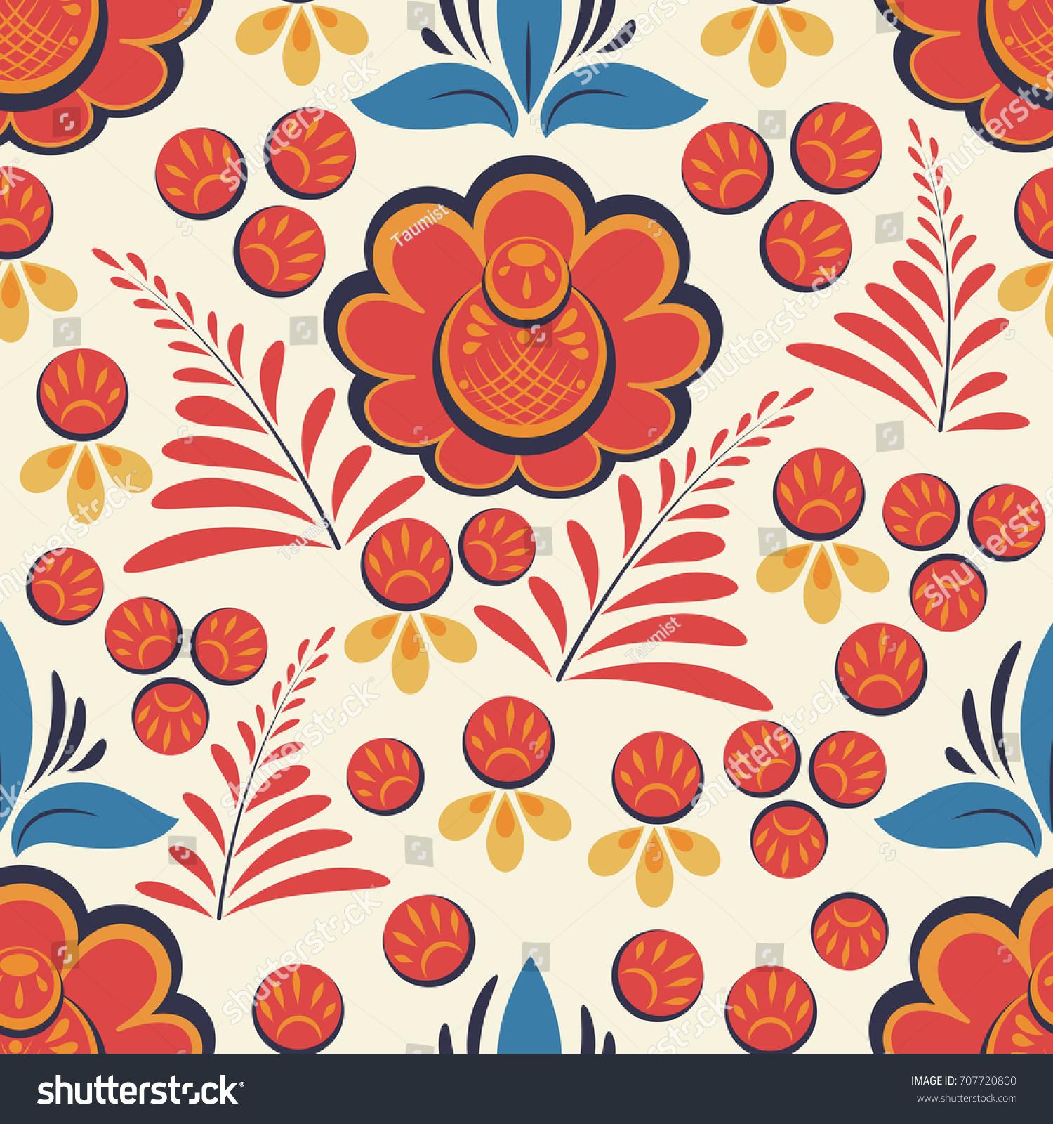 Patterns for drawing in Russian folk art