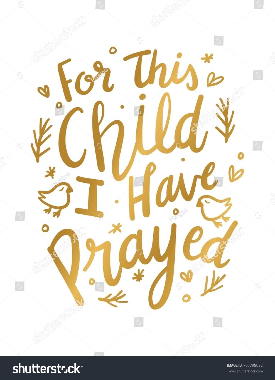 This Child Have Prayed Wall Art Stock Photo (Photo, Vector ...