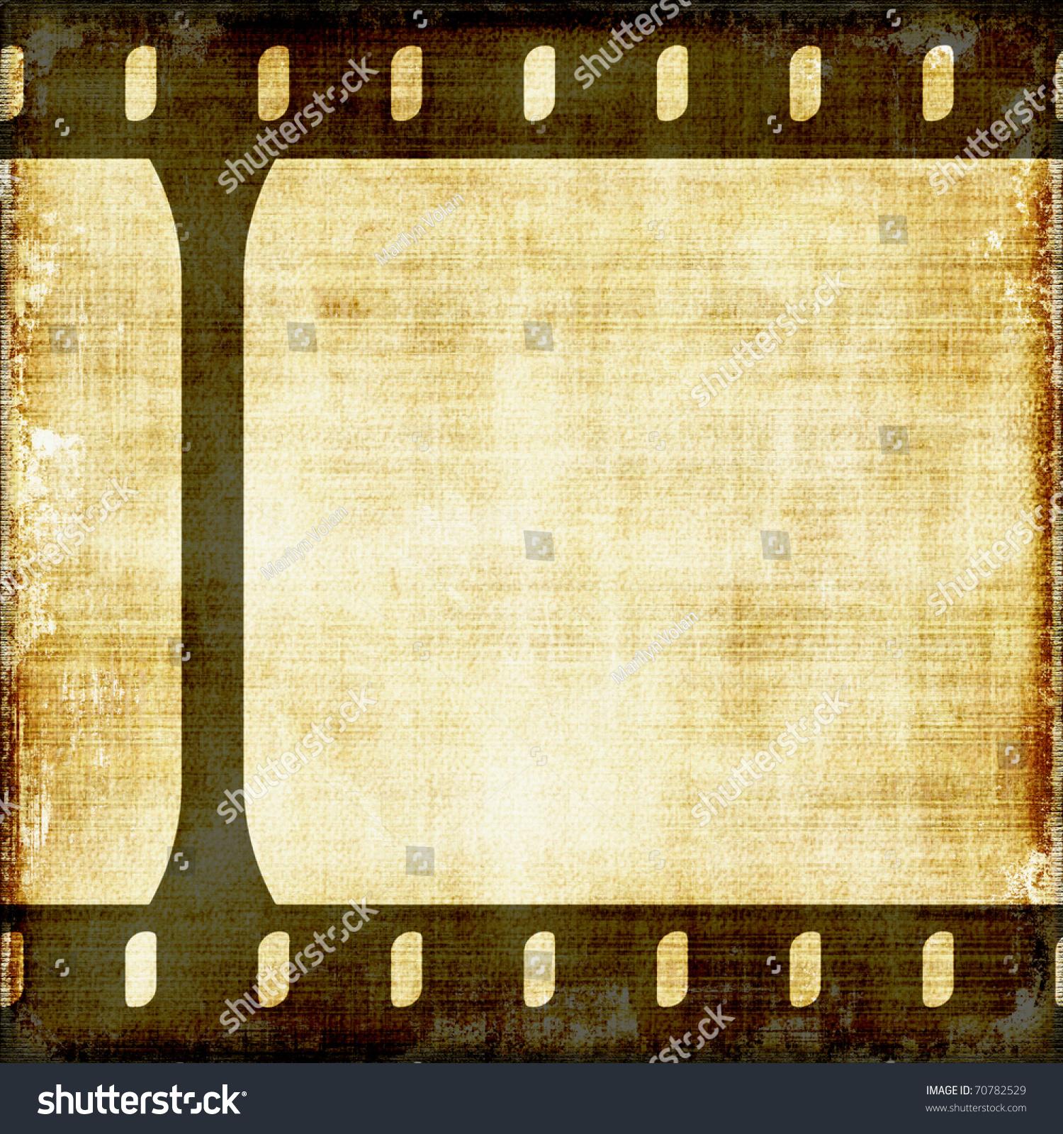 old vintage film strip background stock illustration