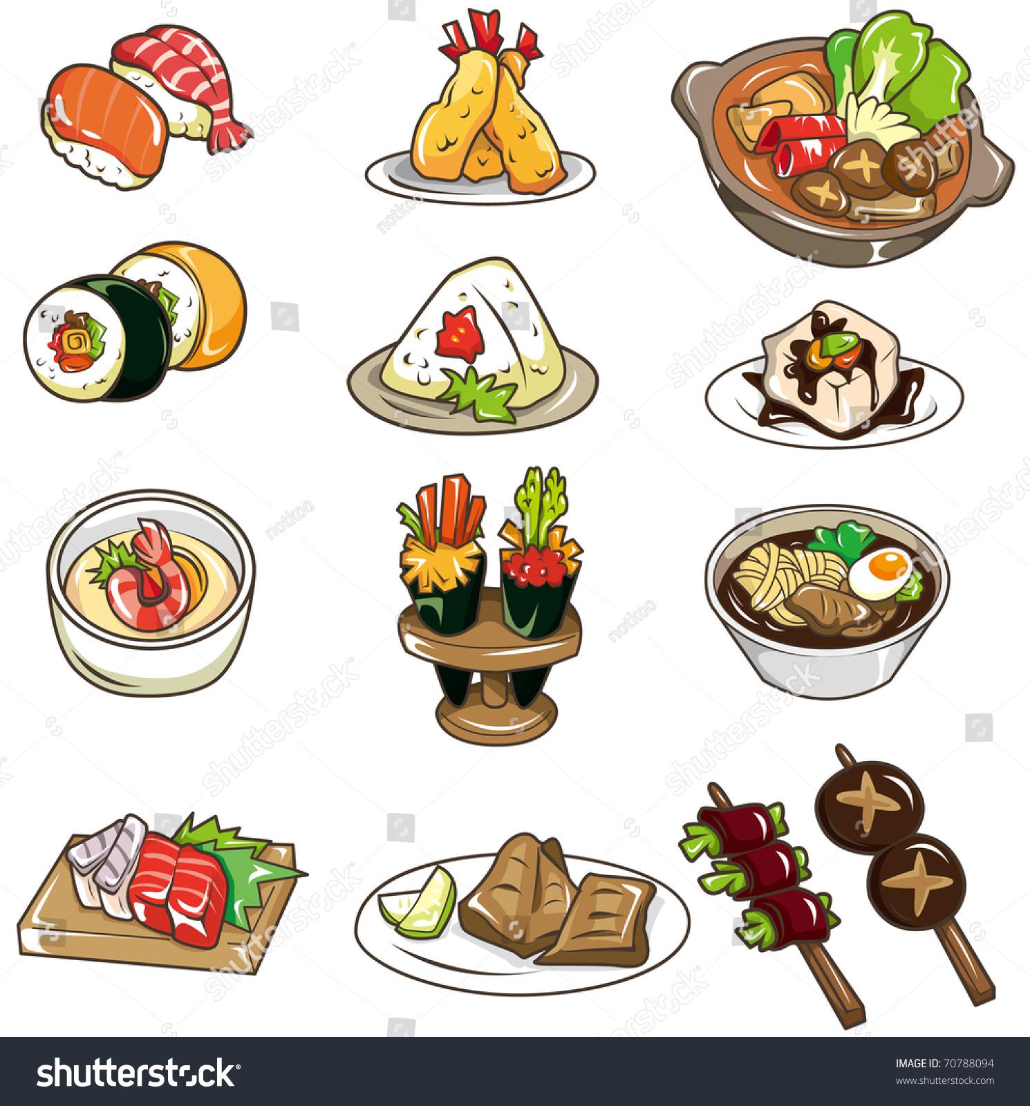 Cartoon Japanese Food Icon Stock Vector 70788094
