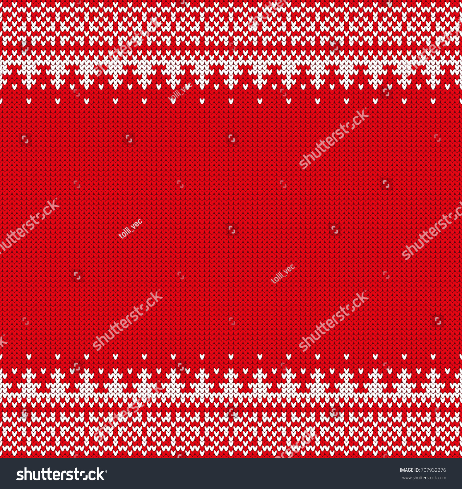 Seamless Knitting Pattern Norwegian Sweater Ornaments Stock Vector ...