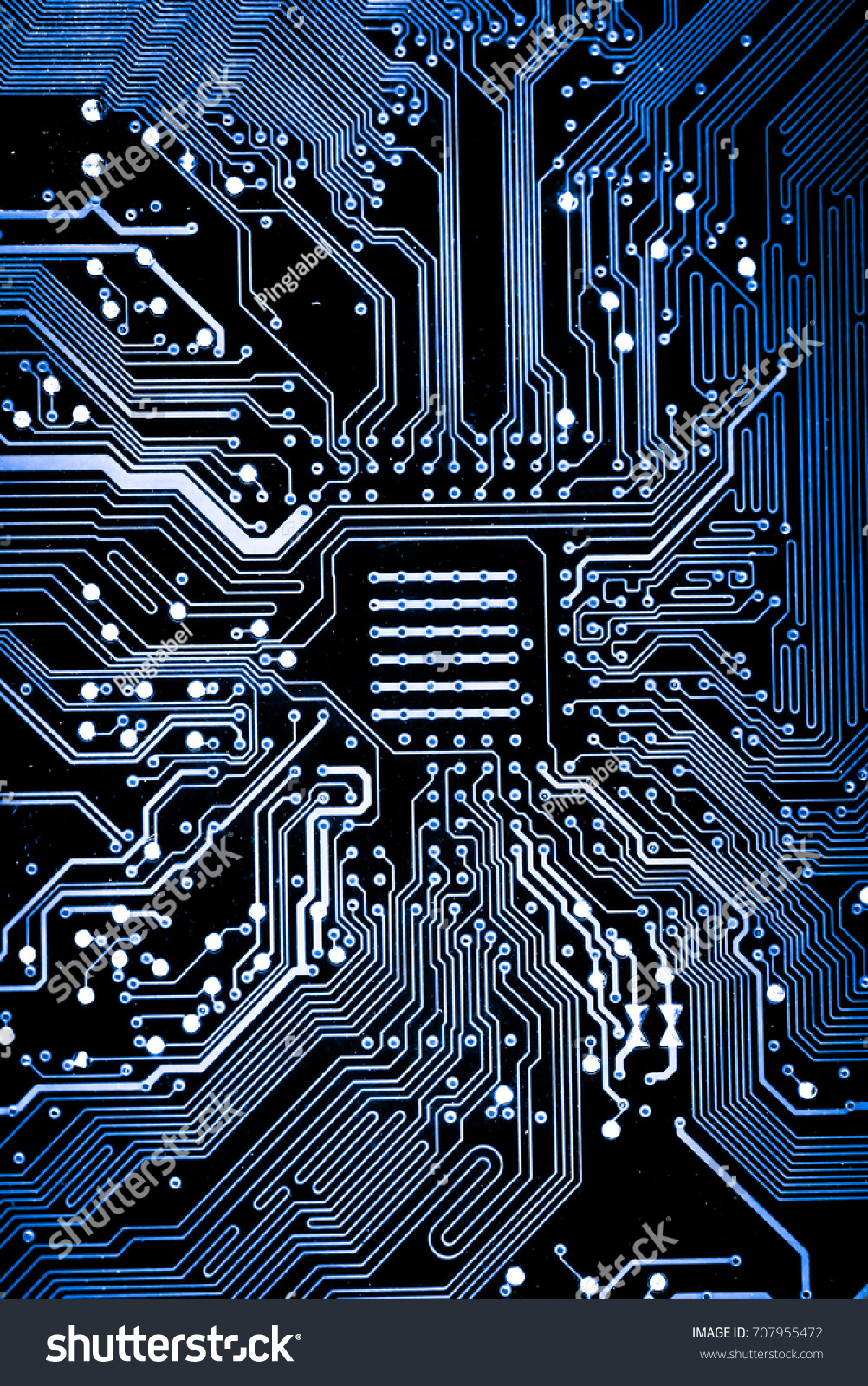 Abstract Close Up Of Electronic Circuits In Technology On Mainboard Circuit Board Background Computer Ez Canvas
