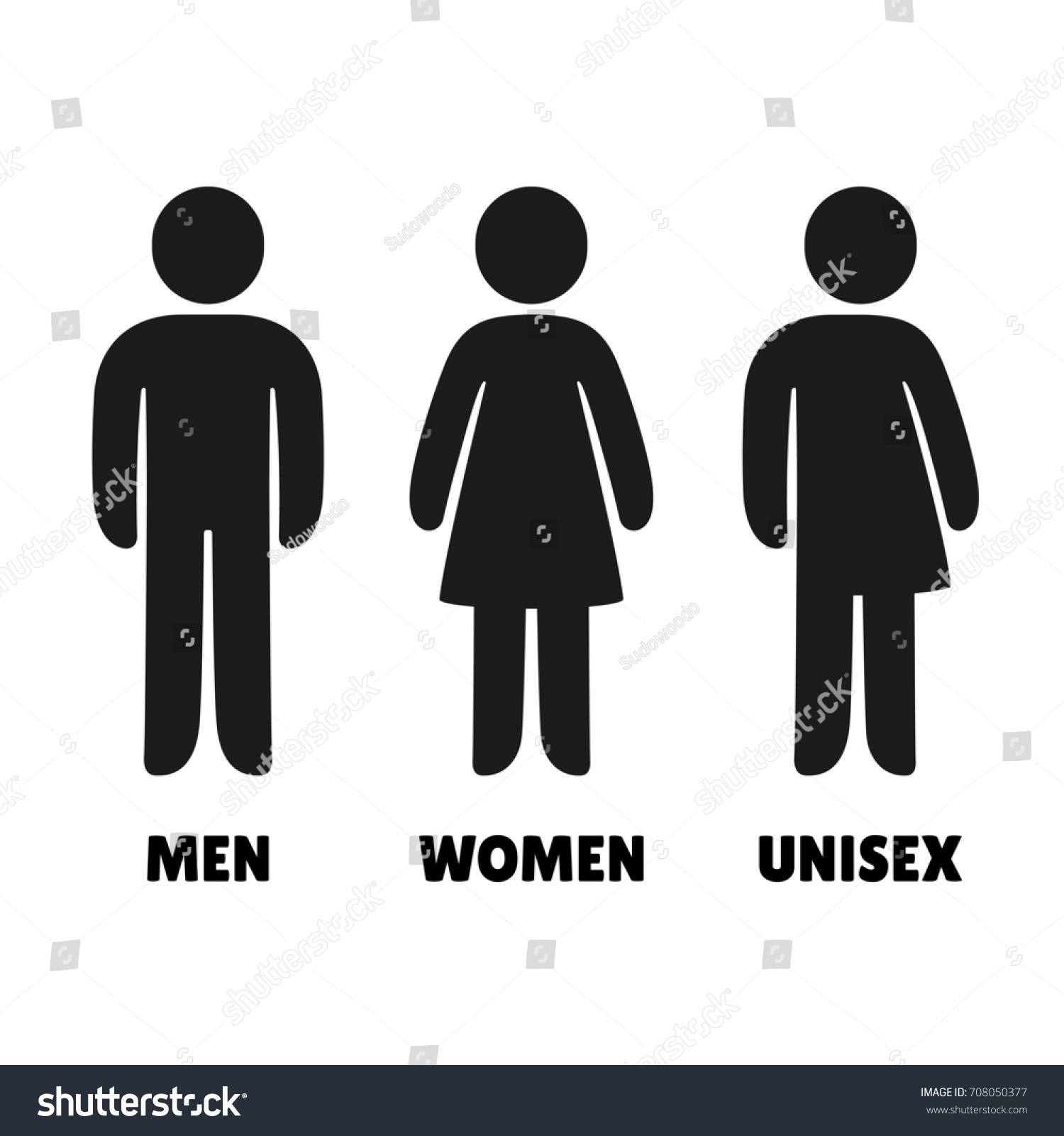 Male Female Bathroom Symbols Impressive Man Woman Uniicons Male Female Stock Illustration 708050377 . Design Decoration