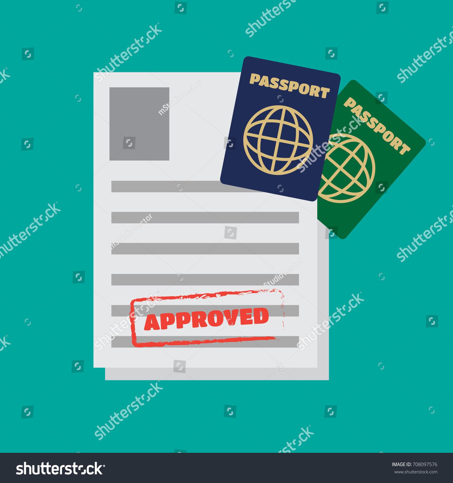 Visa stamping passport visa application travel stock vector visa stamping passport or visa application travel vector biocorpaavc Choice Image