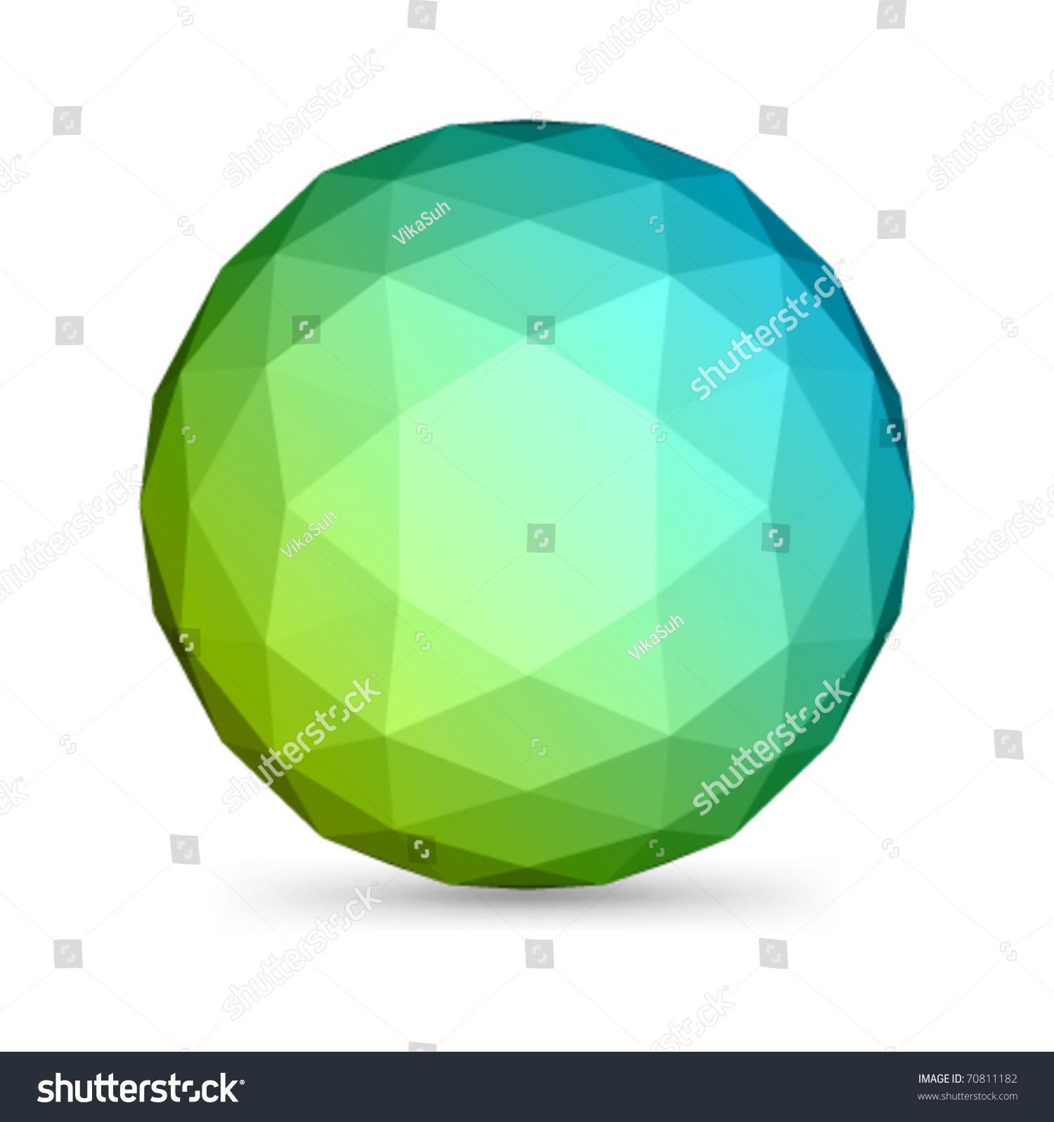 Abstract 3d Origami Polygonal Sphere Vector Stock Vector ... - photo#29