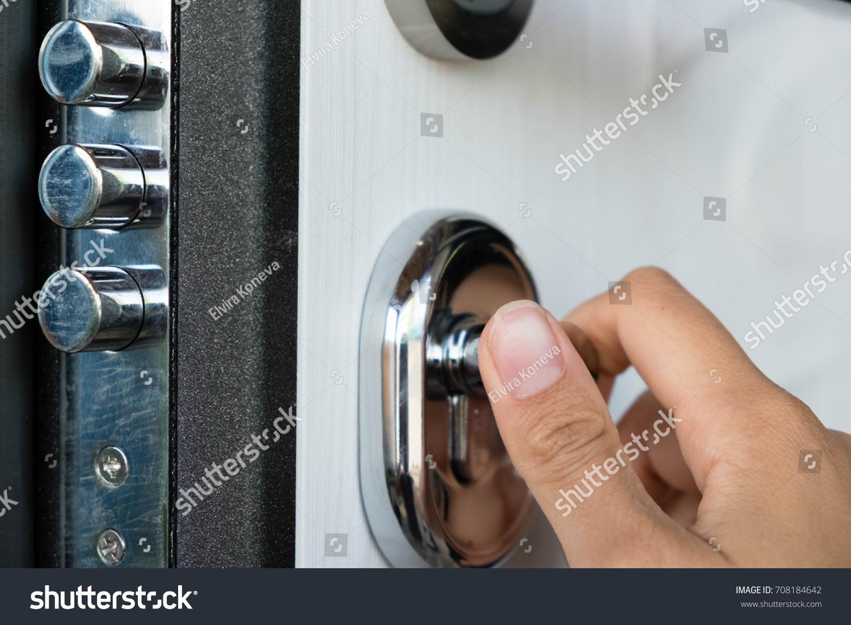 Open Door Family Home Closeup Lock Stock Photo 708184642 ...