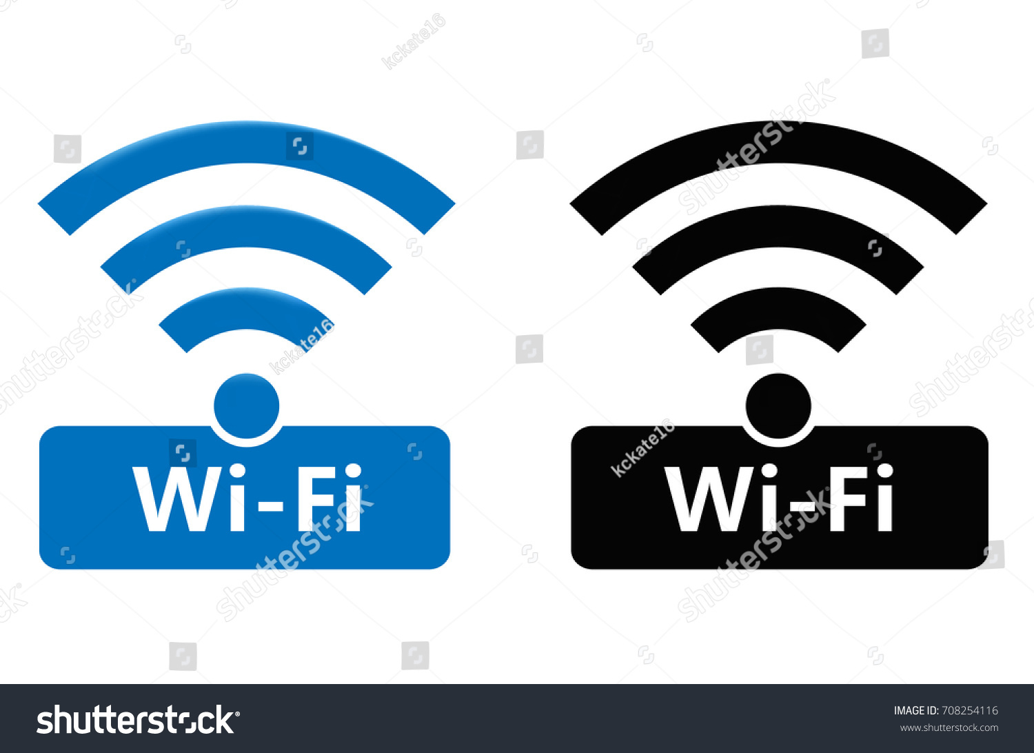 Wireless Wifi Icons Wireless Network Symbol Stock-Vektorgrafik ...