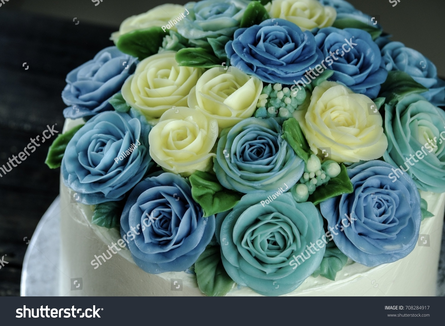 Butter Cream Flower Cake Pastel Color Stock Photo (Edit Now ...
