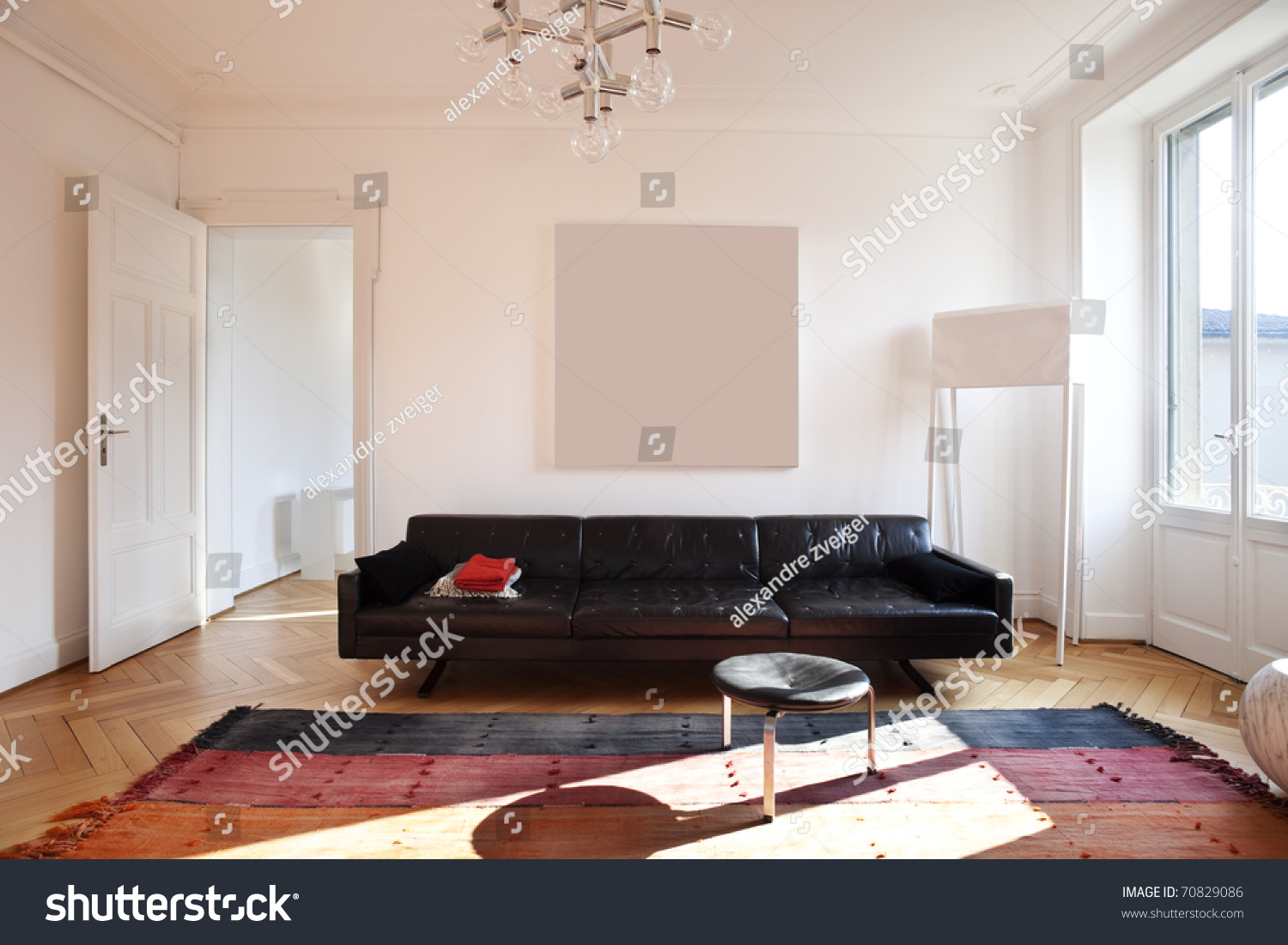 Nice Apartment Refitted Living Room Furniture Retro Stock Photo 70829086 S