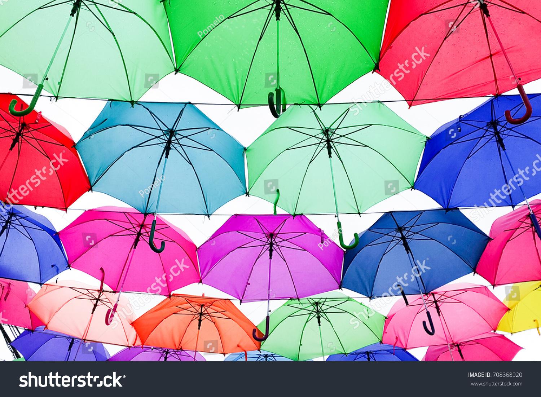 Colorful umbrellas   EZ Canvas
